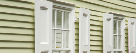 Window shutters and siding